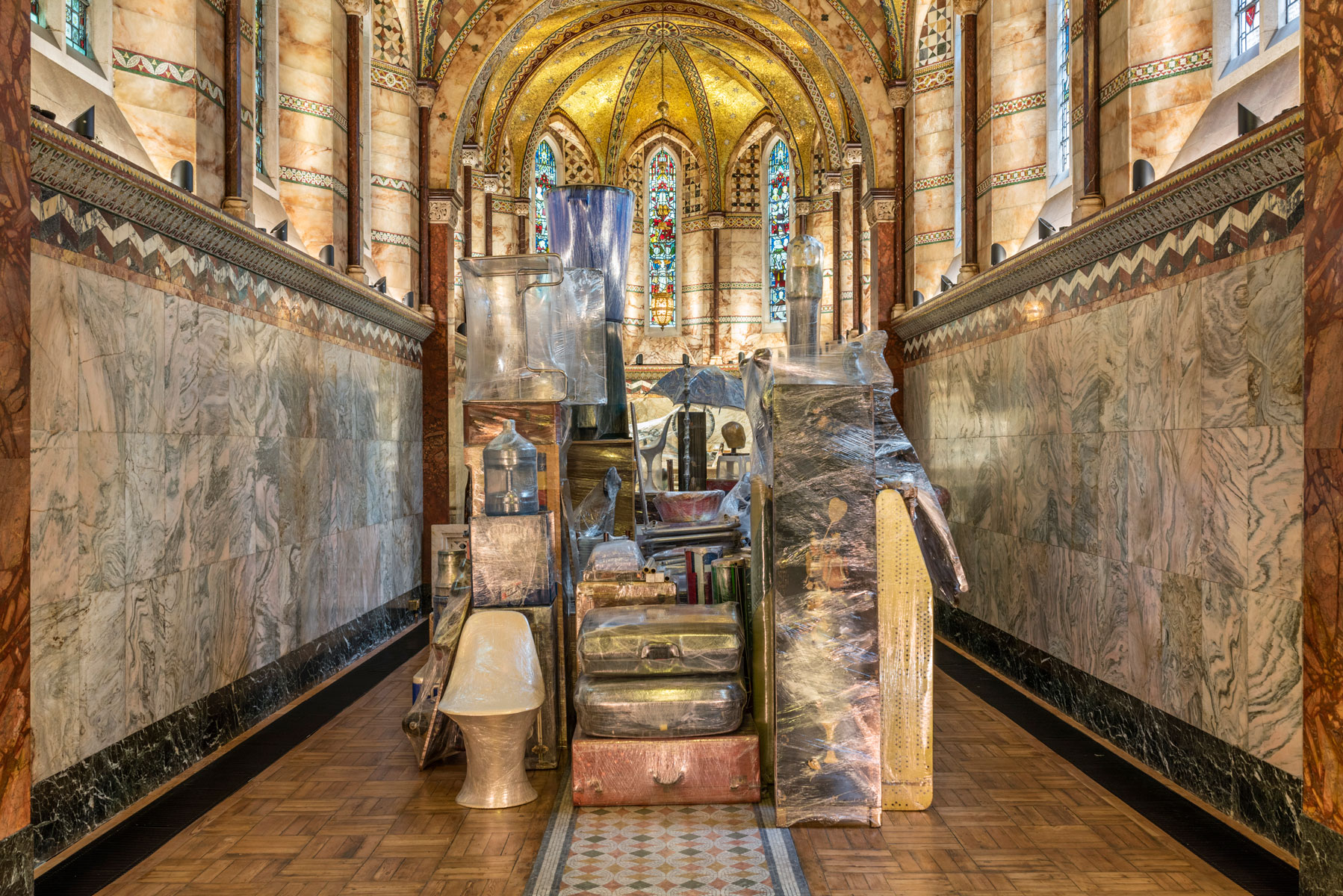 Pepe López - 'Crisálida' - at Fitzrovia Chapel - London - Ruya Maps - 2018 - photography Thierre Bal